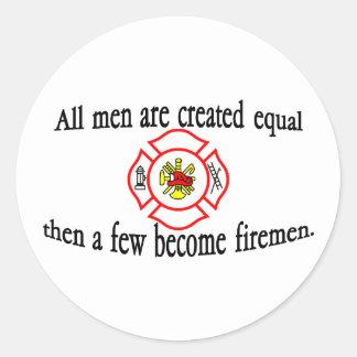 A few firemen classic round sticker