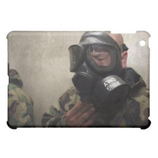 A field radio operator clears CS gas iPad Mini Covers