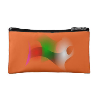 A Fish in an Orange Ocean Cosmetic Bag