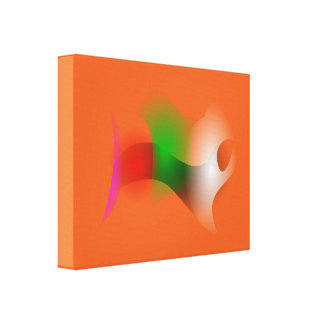 A Fish in an Orange Ocean Gallery Wrap Canvas