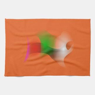 A Fish in an Orange Ocean Hand Towel