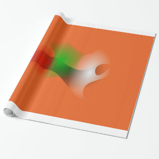 A Fish in an Orange Ocean Wrapping Paper