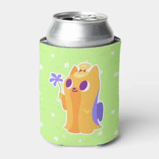 """A Flower For You"" Long-haired Kawaii Yorkie Can Cooler"