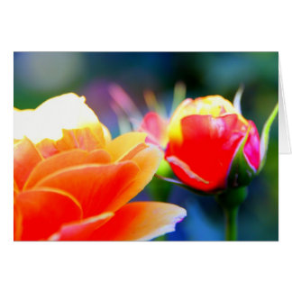 A Flowers Touch Greeting Card