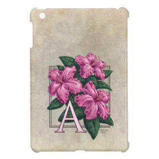 A for Azalea Flower Monogram iPad Mini Case