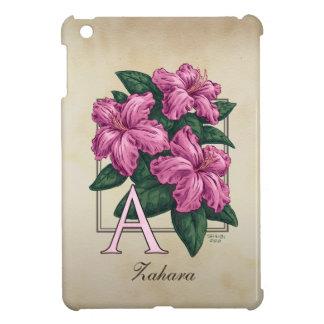 A for Azaleas Flower Monogram Case For The iPad Mini