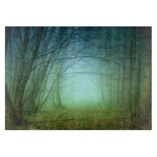 A Forest With Fog Cutting Boards