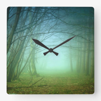 A Forest With Fog Wallclock