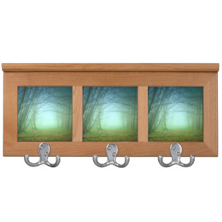 A Forest With Fog Coat Rack
