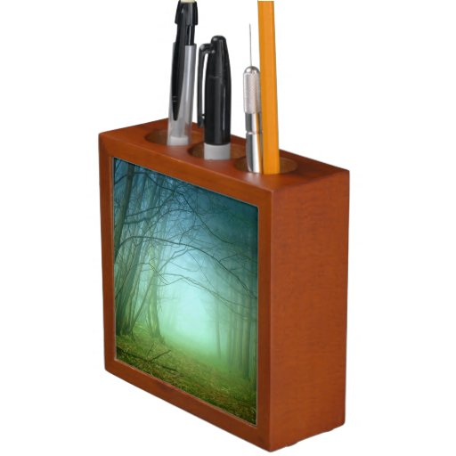 A Forest With Fog Pencil Holder