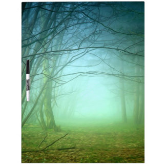 A Forest With Fog Dry Erase Whiteboards