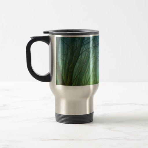 A Forest With Fog Coffee Mug