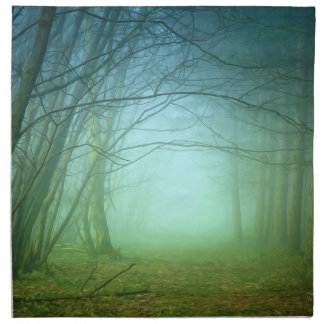 A Forest With Fog Napkins