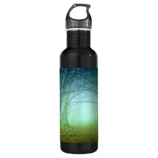 A Forest With Fog 24oz Water Bottle