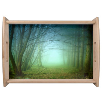 A Forest With Fog Serving Platter