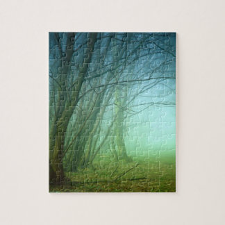 A Forest With Fog Jigsaw Puzzles