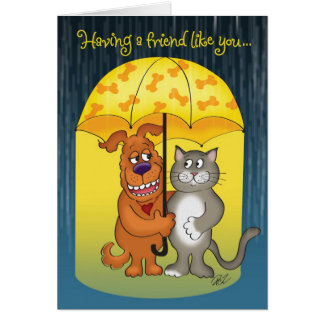 A Friend Like You Illustrated Friendship Card