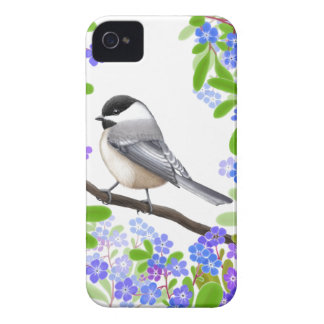 A Friendly Little Chickadee iPhone 4 Case
