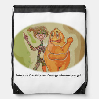 A fun backpack filled with Creativity and Courage