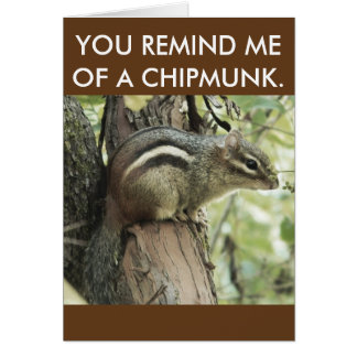 A funny chipmunk card that is simplistic and cute!