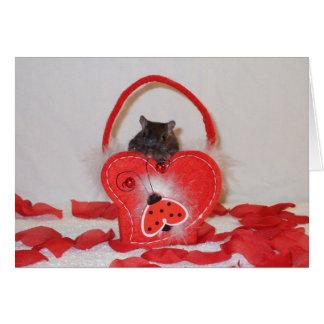 A gerbil valentine's card