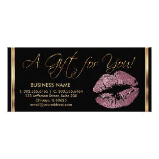 A Gift Certificate Pink Rose Lipstick Business 2 Custom Rack Card