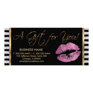 A Gift Certificate So Pink Lipstick Business 3 Rack Card Template