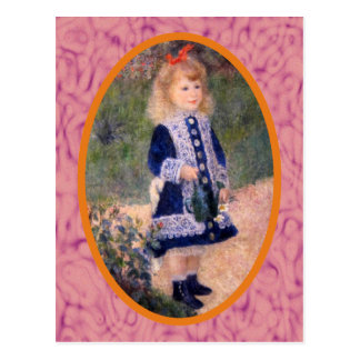 A Girl with a Watering Can by Renoir Postcard