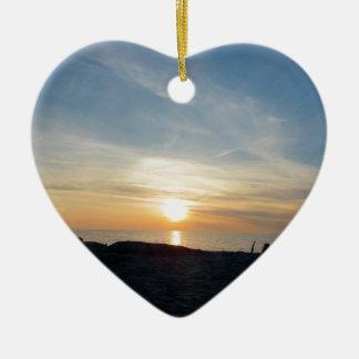 A Glimpse of Heaven Ceramic Heart Decoration