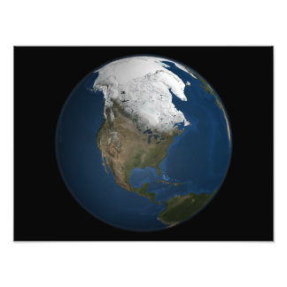 A global view over North America Photo Print