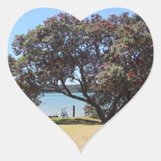 A God of Peace (1 Corinthians 14:33) Heart Sticker