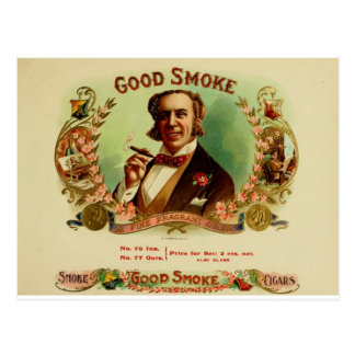 A good Smoke for the sophisticated gentleman Postcard