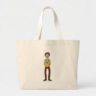 A grandfather jumbo tote bag