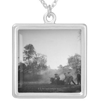 A group of Mexican charros bullfighters twist Silver Plated Necklace