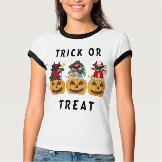 A Halloween Trick or Treat Pug Dogs T-Shirt