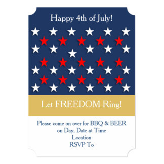 A Happy Fourth July 4th Party Invitation