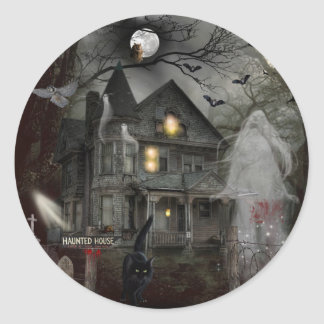 A Haunted Tale Round Sticker