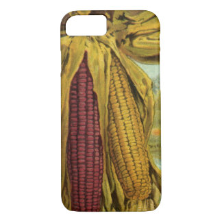 A Hearty Thanksgiving; Indian Corn and Haystacks iPhone 8/7 Case