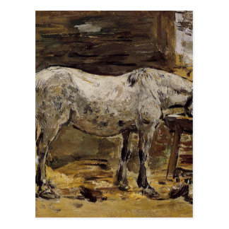 A Horse Drinking by Eugene Boudin Postcard