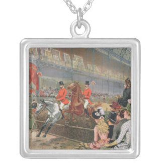 A Horse Race, 1886 Silver Plated Necklace