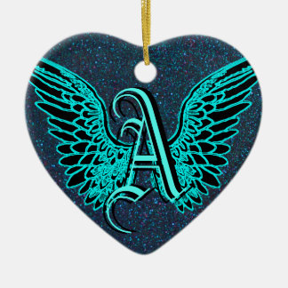 A is for Angel Christmas Ornament