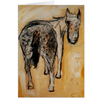 A is for Appaloosa greeting card