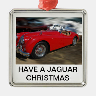 A JAG CHRISTMAS Silver-Colored SQUARE DECORATION