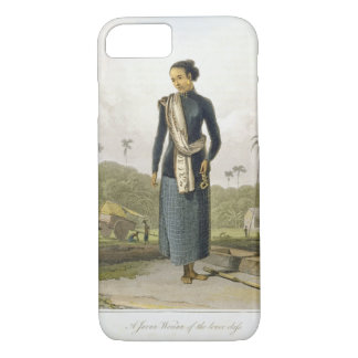 A Javan Woman of the Lower Class, plate 3 from Vol iPhone 7 Case
