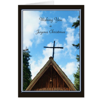 A Joyous Christmas , Old Country Church Greeting Card