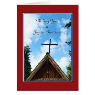 A Joyous Christmas , Old Country Church NO NAME Greeting Card