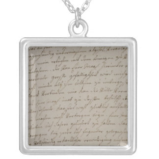 A letter from Maria Theresa to King Frederick Silver Plated Necklace