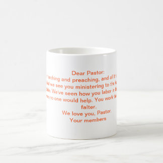 A Letter To the Pastor Coffee Mug
