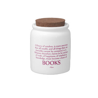 A Library Of Wisdom Is More Precious Candy Jar