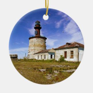A lighthouse on the islet of Keri, Estonia Christmas Ornament